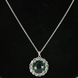 Anzie Anzie Royale Necklace Green Quartz White Topaz Sterling Silver