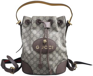 Gucci Canvas Bucket Supreme Backpack