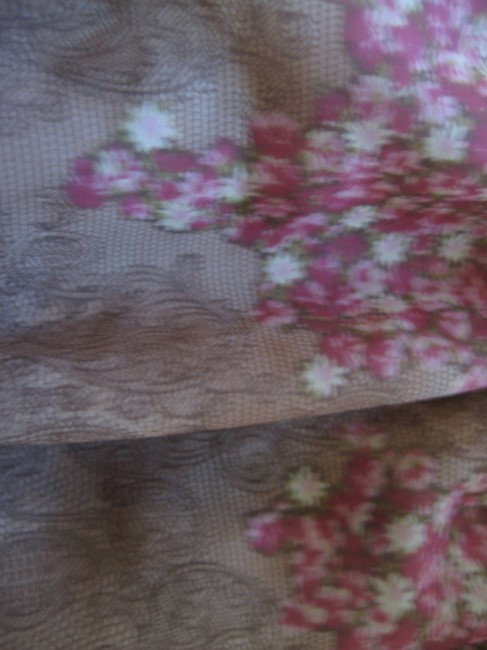 XOXO Floral Peasant Top brown and pink
