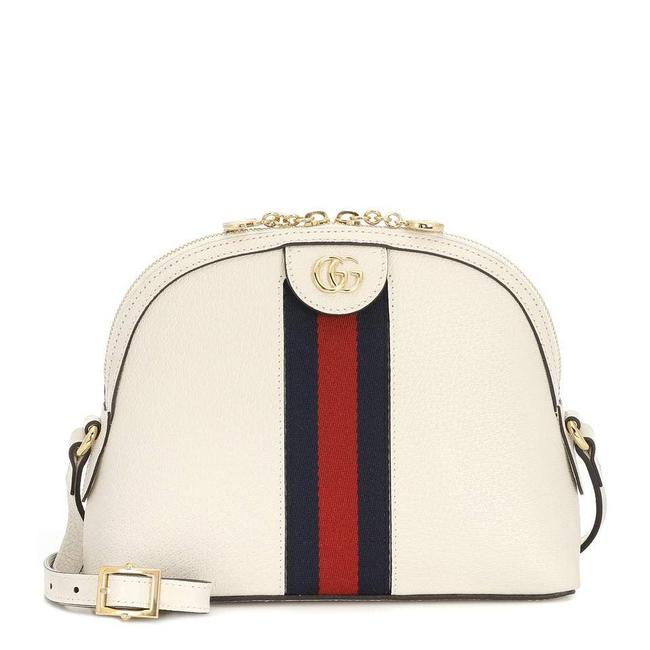 Item - Dome Ophidia Leather White Cross Body Bag