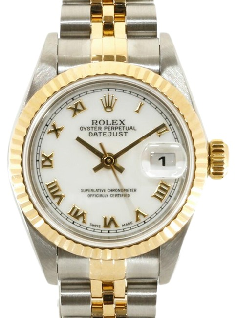 Item - Gold / Silver Roman Ss K18yg Oyster Perpetual U No. 1997 Numerals Datejust 69173 Ladies Watch