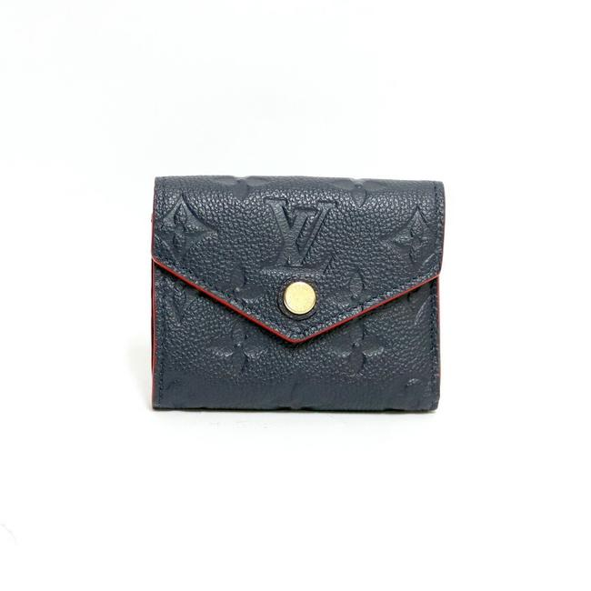 Item - Marine Rouge / Navy / Red Color Victorine Tri-fold Monogram Amplant Lv Initial A.k Included Portofeuil M64577 Wallet