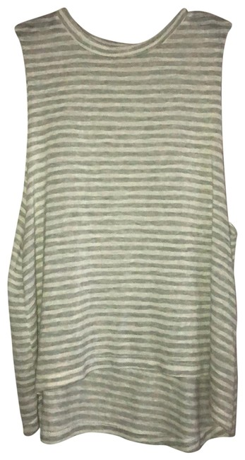 Item - Gray and White Striped Sleeveless Tank Top/Cami Size 8 (M)