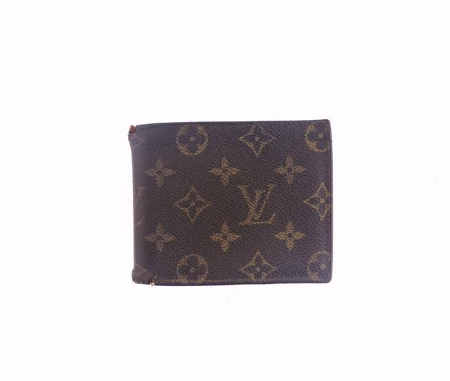 Item - Brown Vintage Monogram Canvas and Leather Marco Bifold Mens Wallet