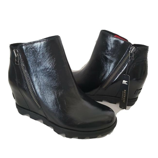 Item - Black Joan Of Arctic Patent Leather Wedge Boots/Booties Size US 10.5 Regular (M, B)