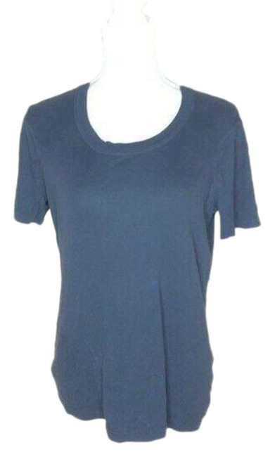 Item - Blue Jersey Womens Granite Crew Neck Solid Tee Shirt Size 4 (S)
