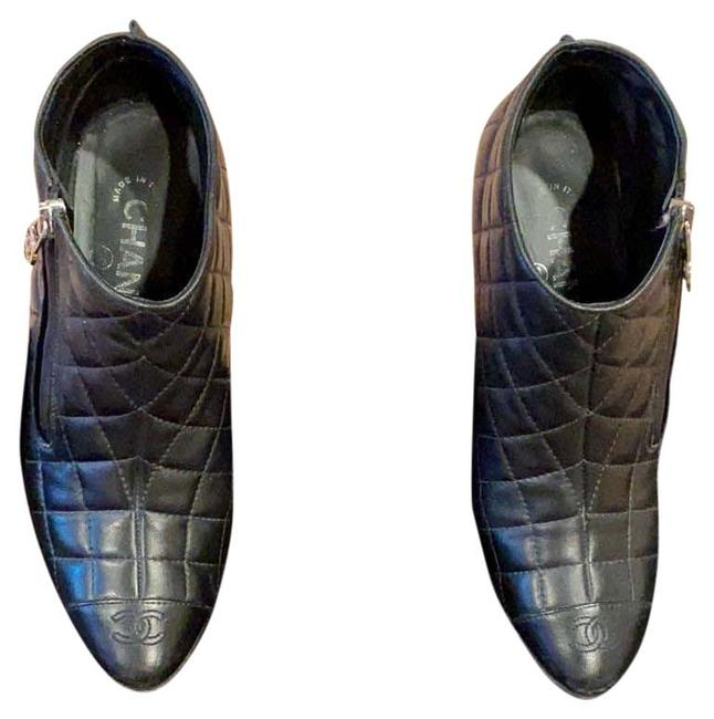Item - Black Faboulos Leather Quilted Mint Conditio Boots/Booties Size US 6.5 Regular (M, B)