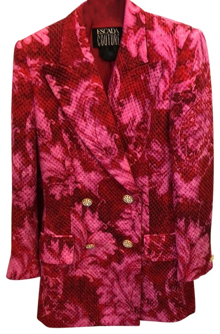 Item - Red and Fuchsia Couture Blazer Size 4 (S)