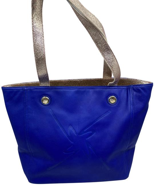 Item - Shopping Nwot Msrp Blue Leather Tote