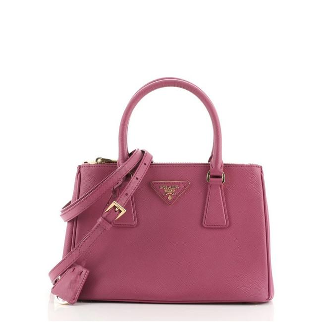 Item - Galleria Double Zip Saffiano Small Pink Leather Tote