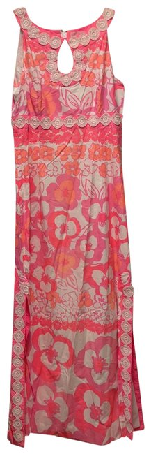 Item - Pink and White Summer Long Casual Maxi Dress Size 8 (M)