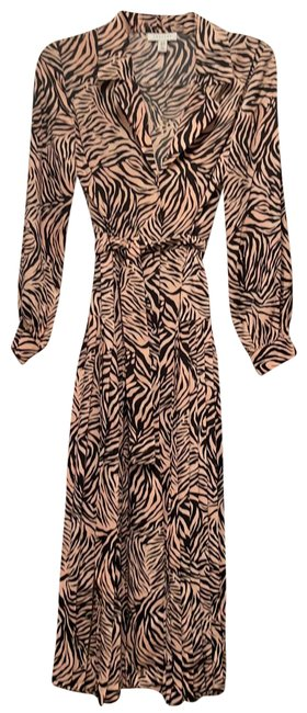 Item - Light Pink and Black 125149 Mid-length Work/Office Dress Size 4 (S)