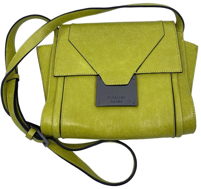 Item - Nwot Msrp Yellow Green Leather Cross Body Bag