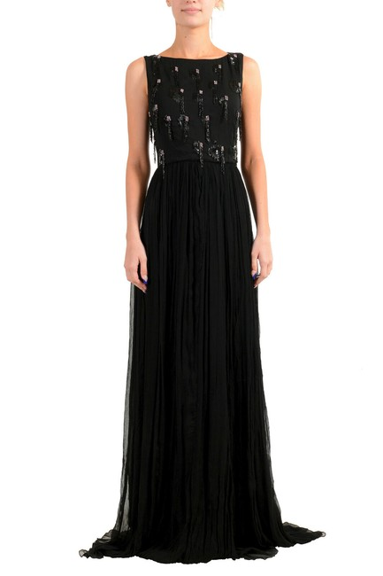 Item - Black Women's Embellished Evening Gown Long Casual Maxi Dress Size 12 (L)