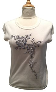 Iisli Sequin T Shirt White