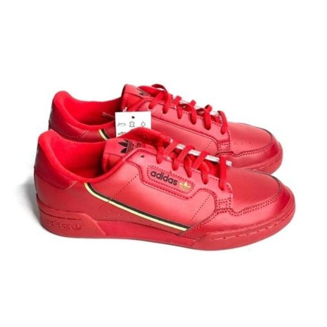 Item - Red Retro Leather Lace Up Sneakers Size US 6 Regular (M, B)