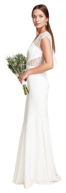 Item - White Kendall Bridal Gown Msrp 400 Long Cocktail Dress Size 4 (S)