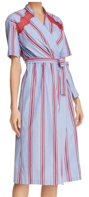 Item - Blue Red Mellow Striped Mid-length Work/Office Dress Size 8 (M)