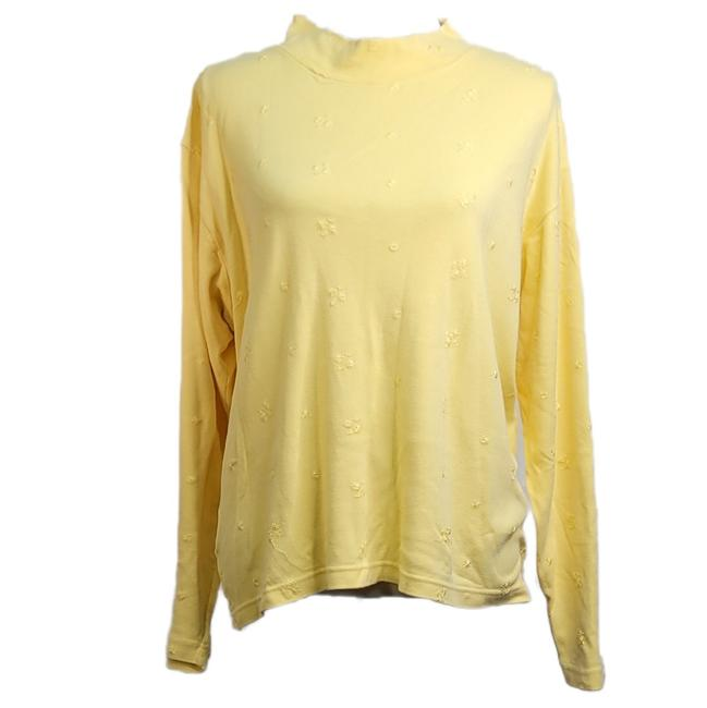 Item - Yellow L Casuals Womens Sleeves Embroidery Blouse Size 12 (L)