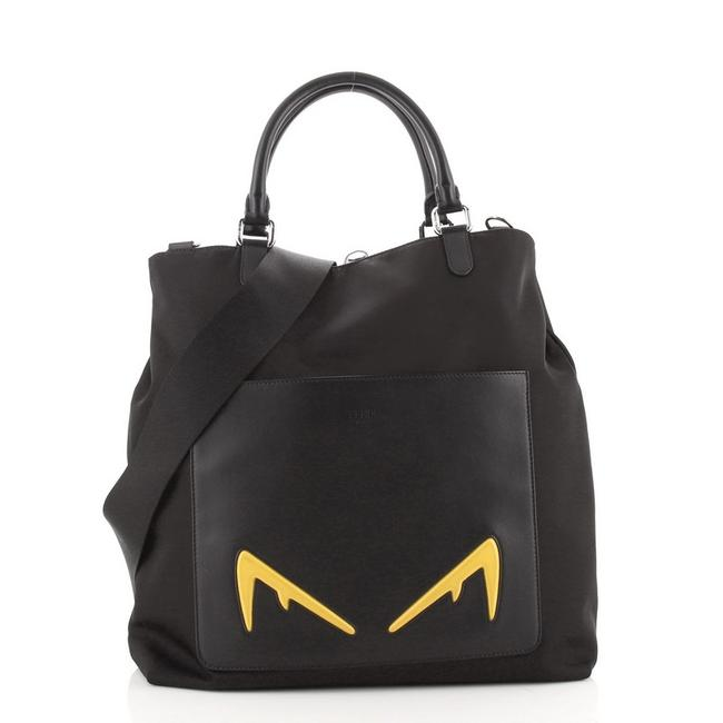 Item - Front Pocket Convertible Bugs Shopper And Black Nylon Leather Tote