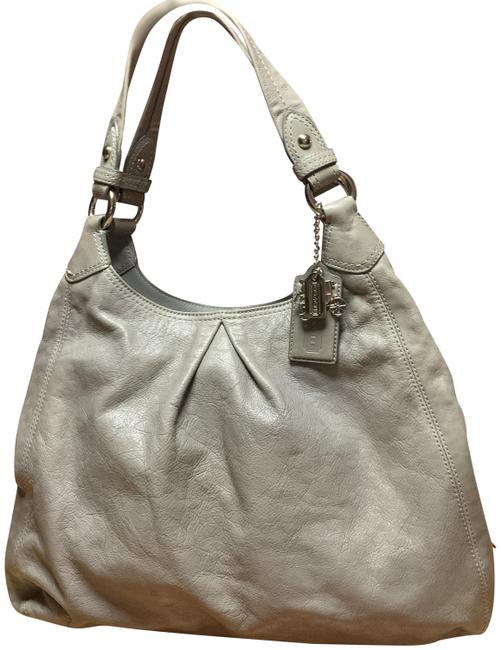 Item - Maggie Large Madison Triple Entry #13897 Gray Leather Hobo Bag
