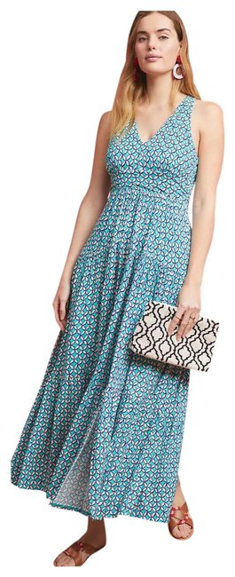 Item - Green and Blue Jersey Mabel Boho Long Casual Maxi Dress Size 6 (S)