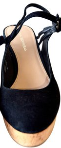 Via Spiga Wedge Wedge Sandal Black Wedges
