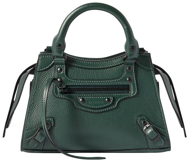 Item - Neo Classic City Small Forest Green Textured-leather Tote