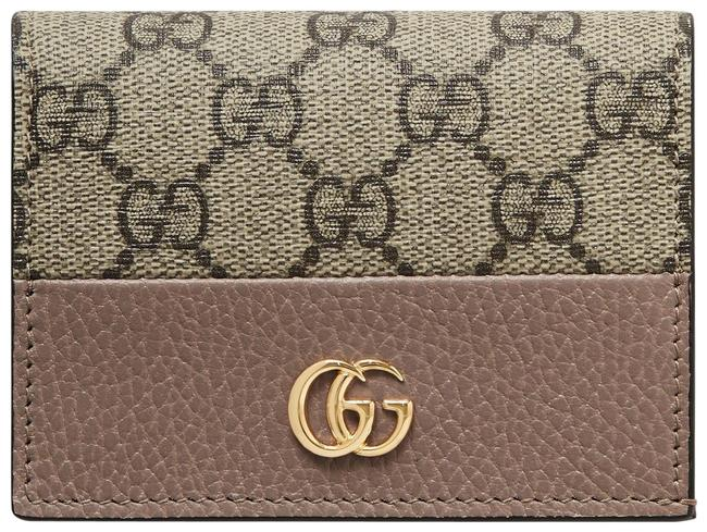 Item - Antique Rose Marmont Gg Petite Textured-leather and Printed Coated-canvas Wallet