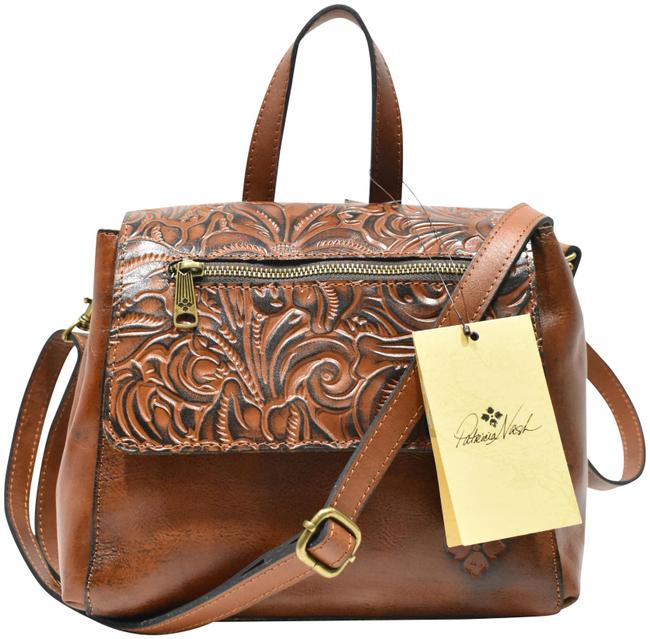Item - Tooled Florence Brown Leather Backpack