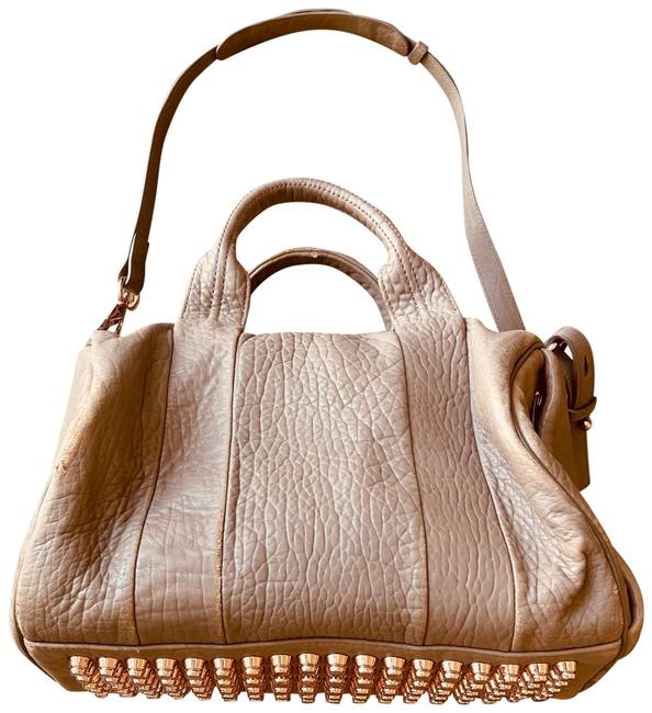 Item - Duffle Rocco Rose Gold Natural Lambskin Leather Satchel