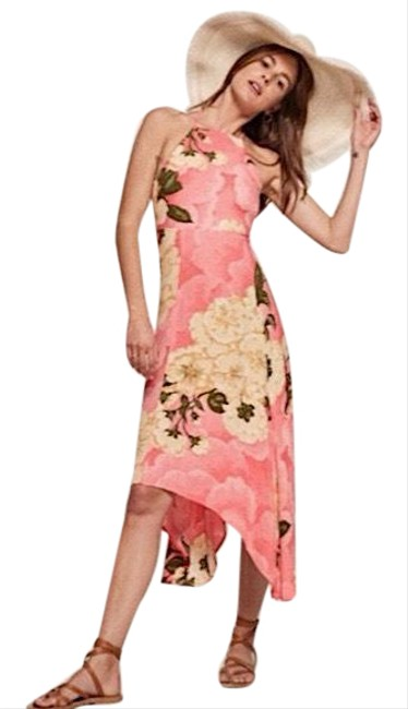 Item - Pink/Yellow Waverly Maxi In Hanoi Mid-length Short Casual Dress Size 4 (S)
