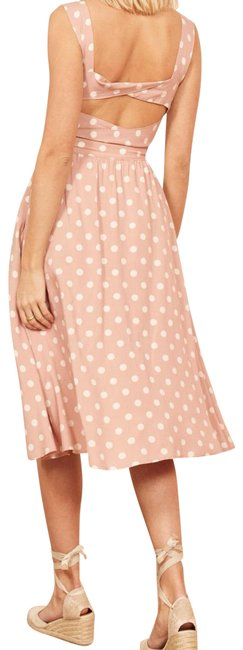Reformation Pint and White Lanai In Mink Mid-length Casual Maxi Dress Size 2 (XS) Reformation Pint and White Lanai In Mink Mid-length Casual Maxi Dress Size 2 (XS) Image 1