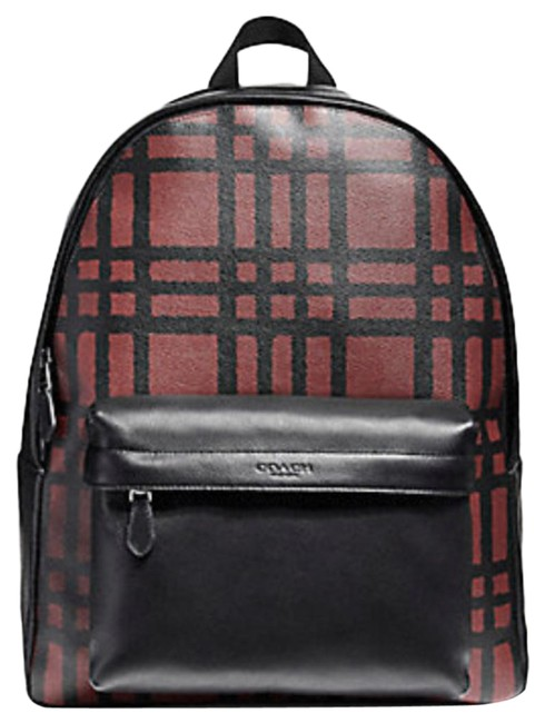 Item - Charles with Wild Plaid Print (F11164) Canvas Backpack