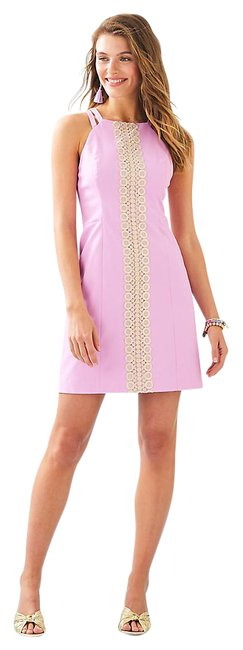 Item - Lilac Freesia Pearl Stretch Shift Short Cocktail Dress Size 2 (XS)