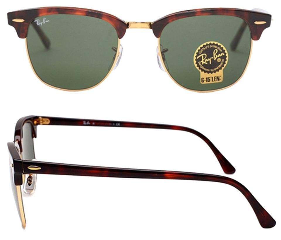 37e121884c Ray-Ban Authentic Ray Ban Clubmaster RB3016 W0366 Tortoise Frame G-15 Dark  Green ...