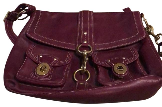 Item - Incredibly Cute Burgundy with Gold Accents Leather Messenger Bag