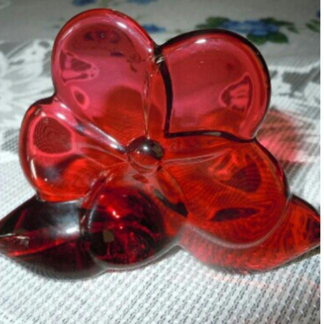 Item - Red Ruby Orchid Crystal Flower Figurine Decoration