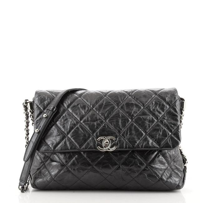 Item - Classic Flap Big Bang Quilted Aged Calfskin Gray Leather Shoulder Bag