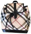 Burberry Haymarket Multicolor Patent Leather Backpack Burberry Haymarket Multicolor Patent Leather Backpack Image 1