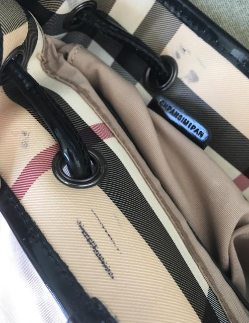 Burberry Haymarket Multicolor Patent Leather Backpack Burberry Haymarket Multicolor Patent Leather Backpack Image 12