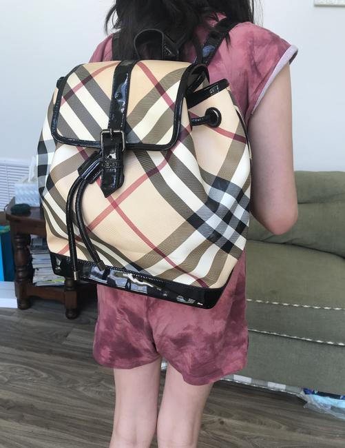 Burberry Haymarket Multicolor Patent Leather Backpack Burberry Haymarket Multicolor Patent Leather Backpack Image 9