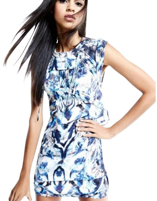 Item - Deinia Ribbed Abstract Print Short Casual Dress Size 8 (M)
