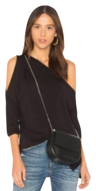 Item - Black Jersey Los Angeles Bamboo One Shoulder ~ Small Tee Shirt Size 2 (XS)