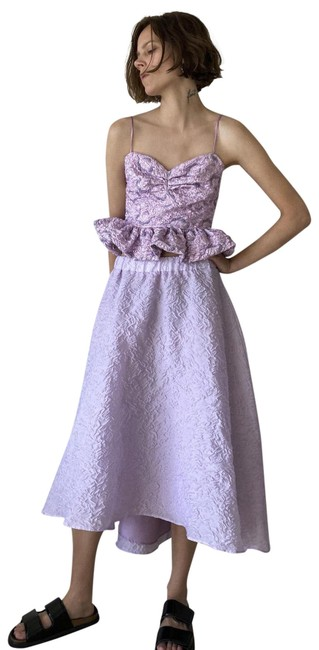 Item - Lilac New Limited Edition Voluminous Organza Med Skirt Size 8 (M, 29, 30)