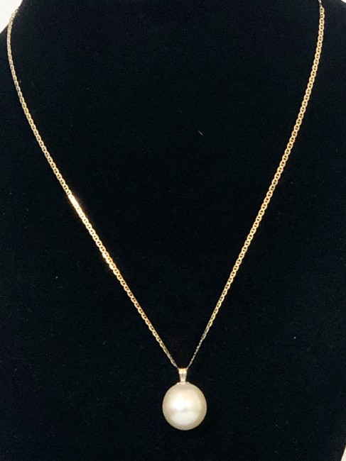 Item - Gold/Champagne South Sea 14mm Pearl 14k Pendant Inch New Necklace
