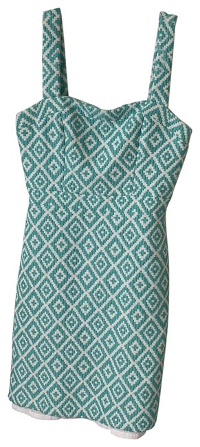 Item - Mint Green and White Short Cocktail Dress Size 2 (XS)