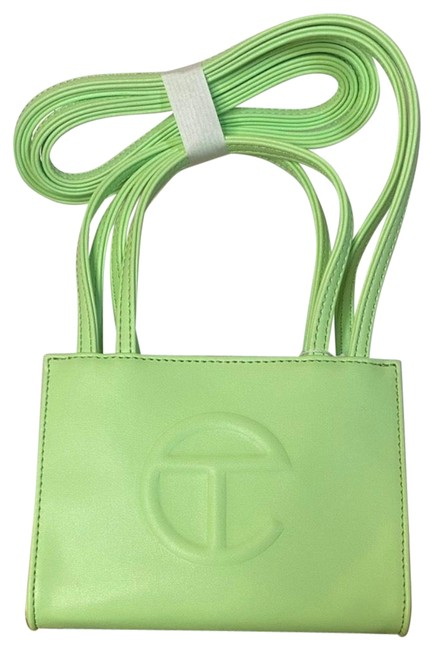 Item - Shopping Small Double Mint Green Faux Leather Hobo Bag