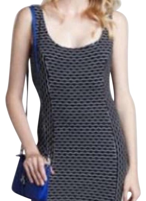 Item - Blue White Maria Short Casual Dress Size 4 (S)