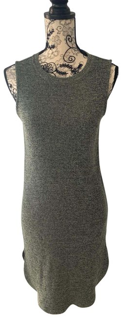 Item - Green Ribbed Mid-length Short Casual Dress Size 4 (S)